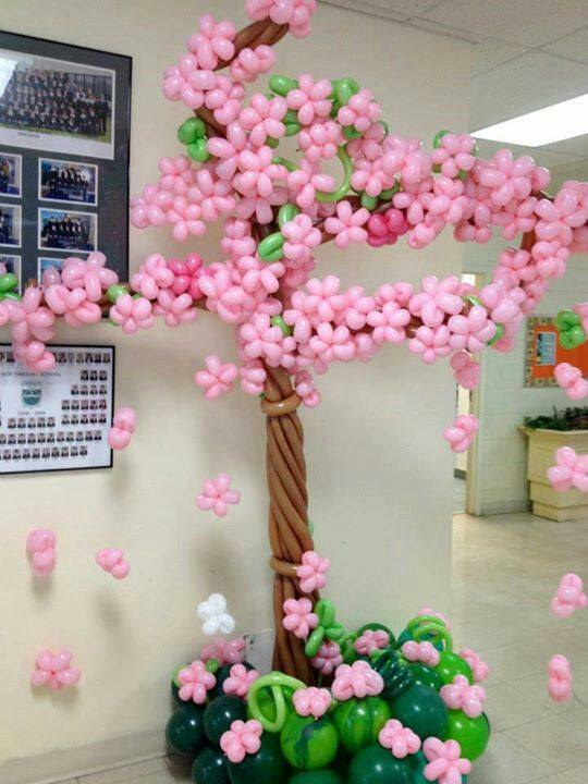 globo flor rosa