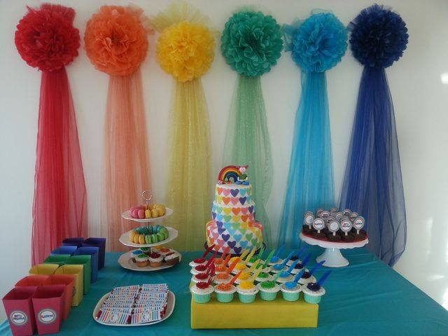 Fiesta Inspirada En El Arcoiris Dale Detalles