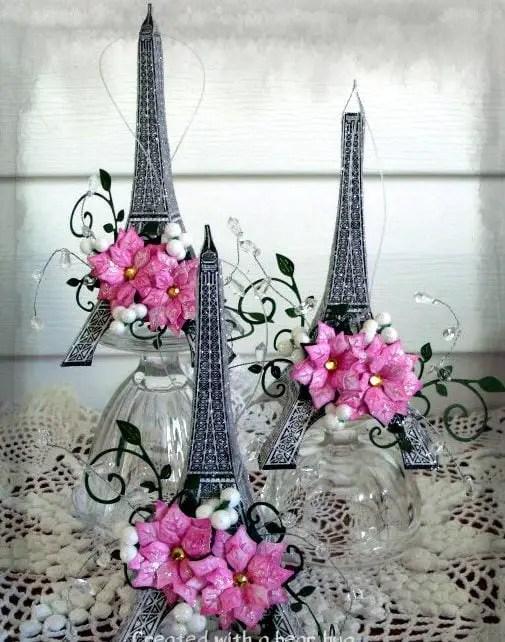 Centros de mesa con torre eiffel dale detalles - Decoracion para mesas de centro ...