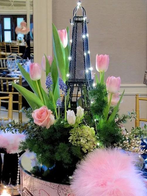 Centros De Mesa Con Torre Eiffel Dale Detalles