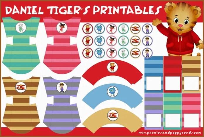 daniel tigre imprimible