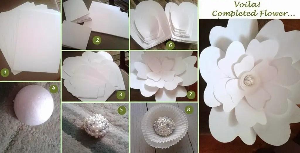 Cmo hacer flores de papel gigantes para eventos Dale Detalles