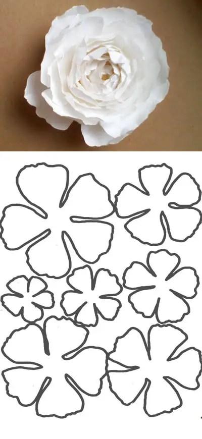 flor de papel molde1