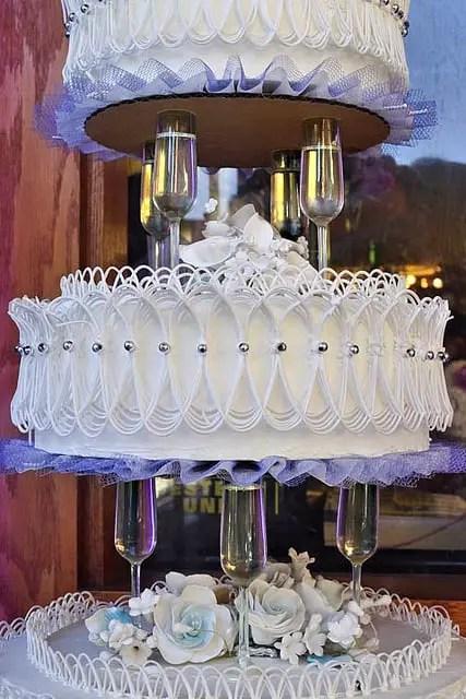 Base con copas para pastel - Dale Detalles