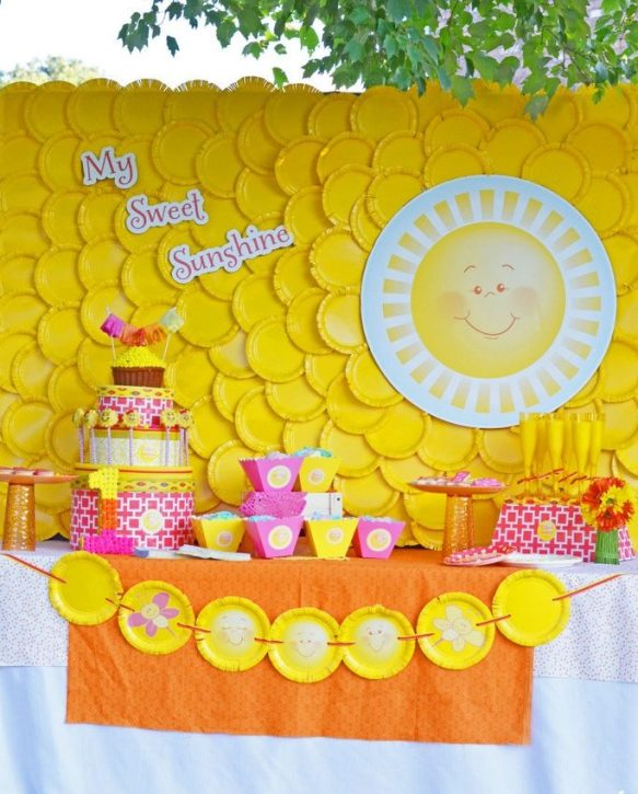 decoracion-con-platos-amarillos