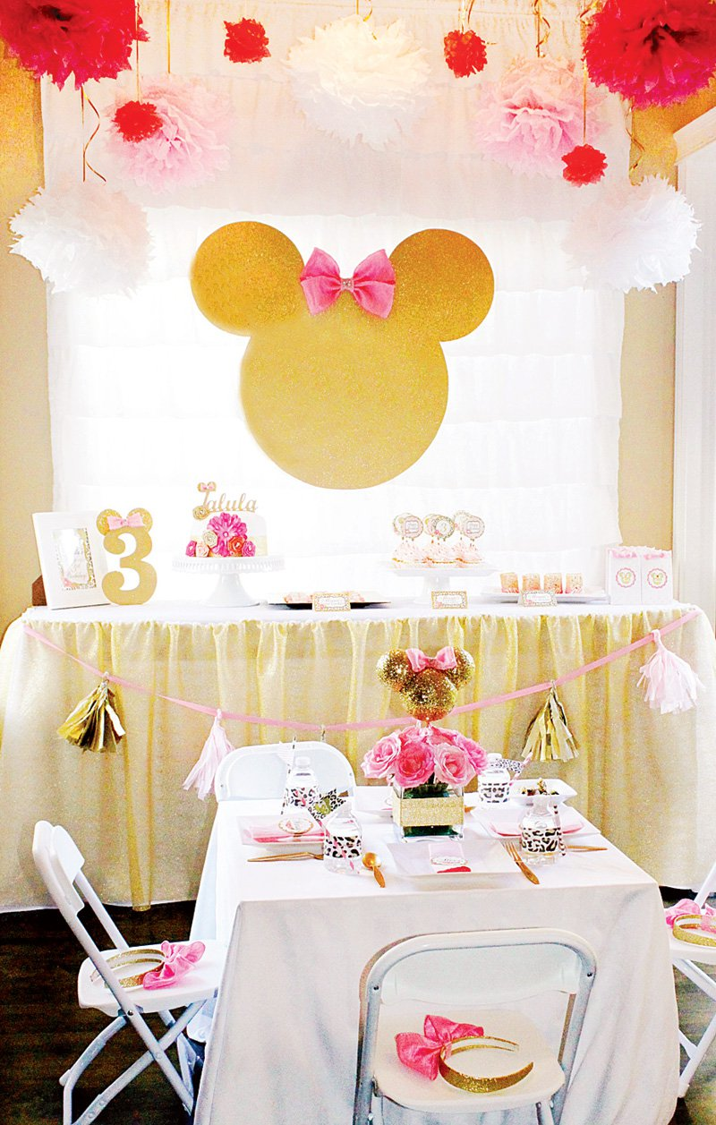Pink And Yellow Minnie Mouse Cake