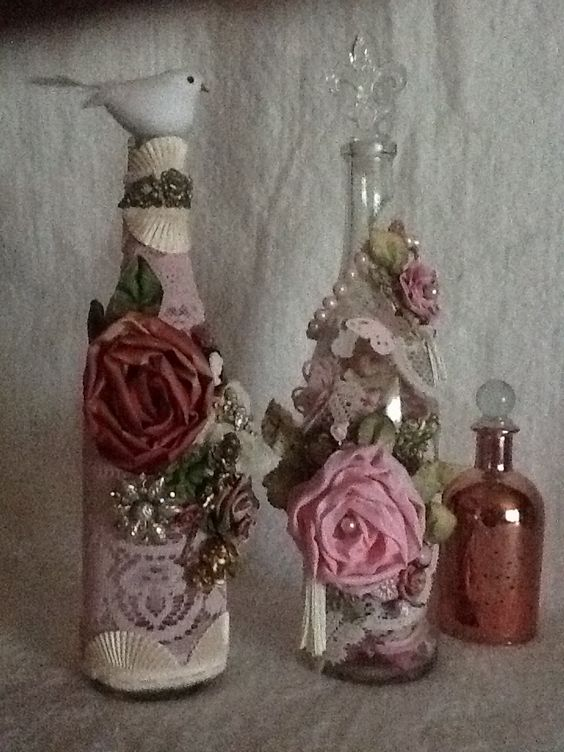 Decora tus frascos al estilo Shabby Chic15