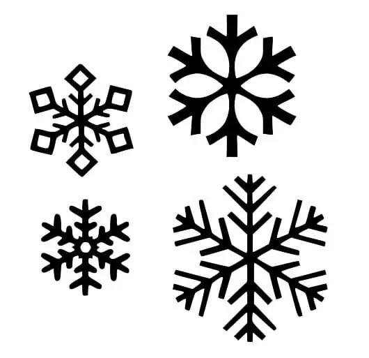 Copos y figuras navide as con pegamento dale detalles for Figuras de nieve navidenas