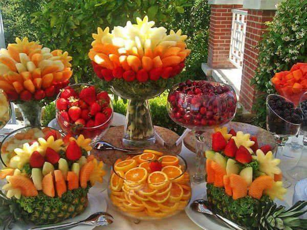 Frutas Creativas Para Buffet O Mesa De Postres Dale Detalles