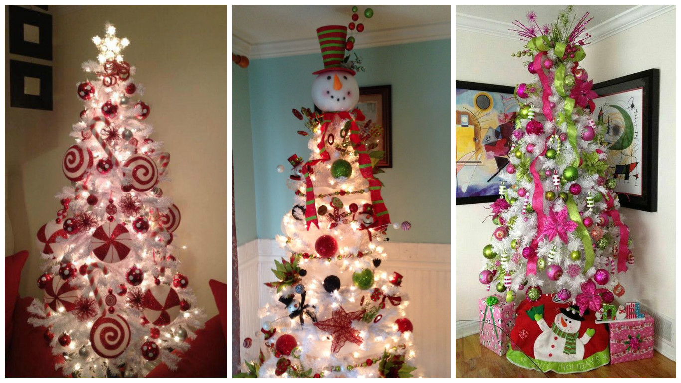 Decoraci n para rboles de navidad blancos dale detalles - Adornos para arbol navidad ...