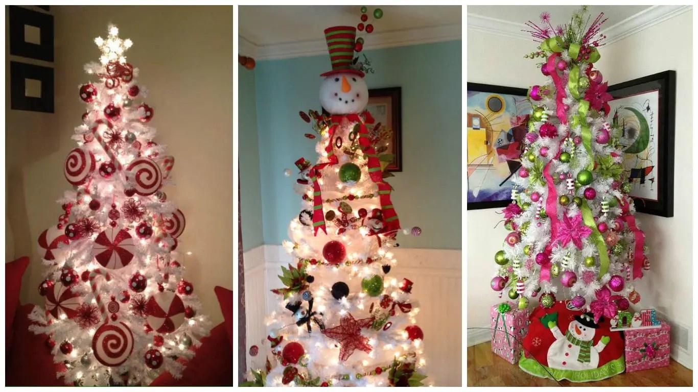 Decoración Para árboles De Navidad Blancos Dale Detalles