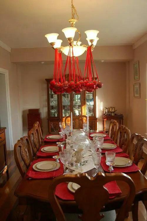Ideas para decorar l mparas de techo en navidad dale - Decoracion de lamparas ...