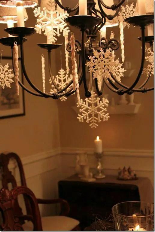 Ideas para decorar l mparas de techo en navidad dale for Decoracion de lamparas