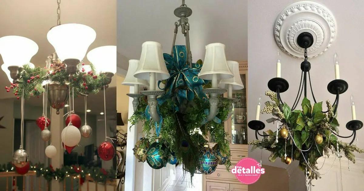 ideas para techos Ideas Para Decorar Lmparas De Techo En Navidad Dale Detalles