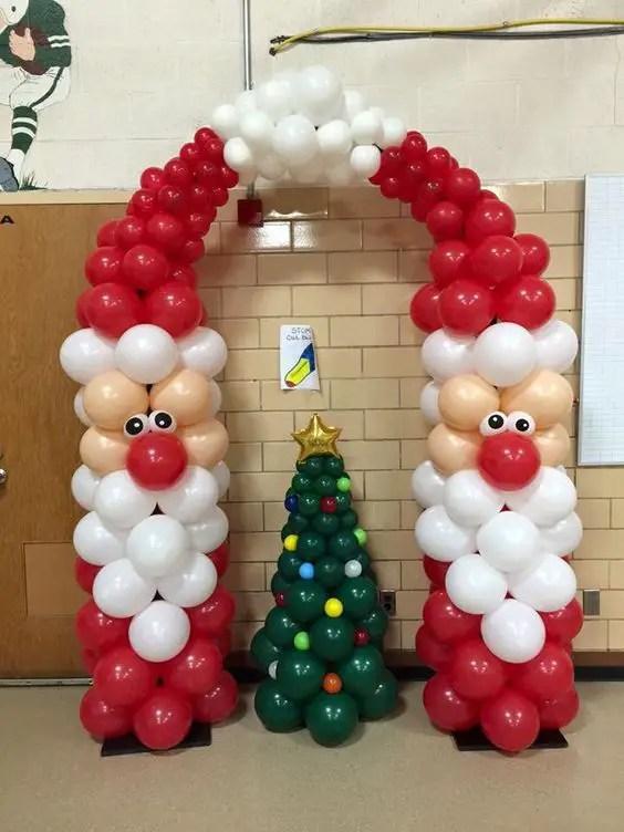 Decoracion navidea con globos Dale Detalles