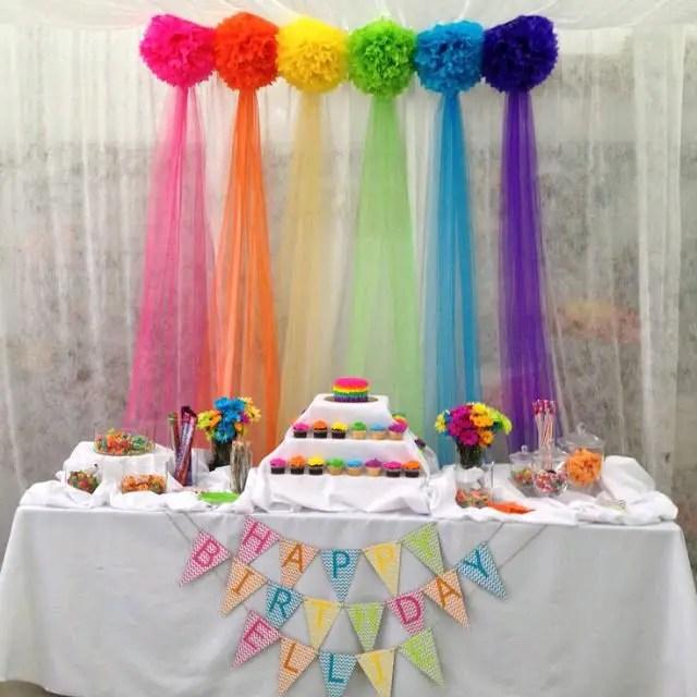 Usa tul para decorar tus fiestas dale detalles for Decoracion para pared de cumpleanos