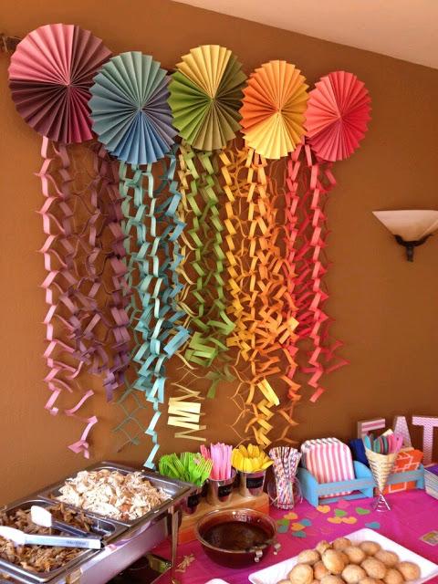Rosetones de papel para decorar tu fiesta dale detalles - Como hacer decoracion de cumpleanos ...