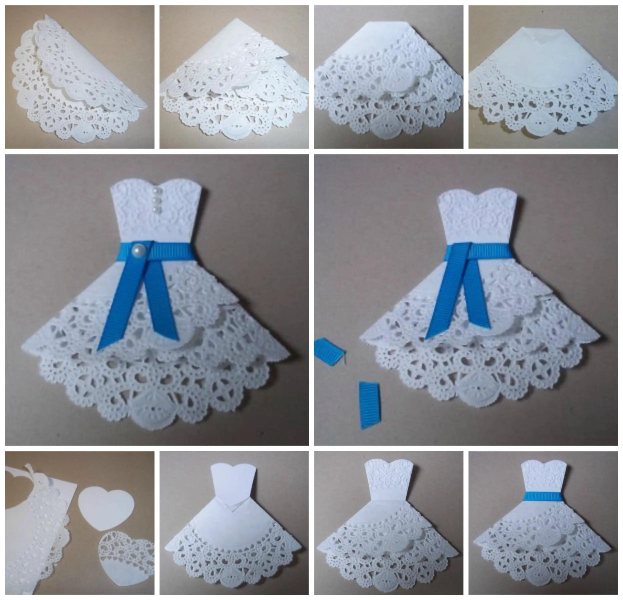 Invitaciones con blondas de papel dale detalles - Blondas de papel ...