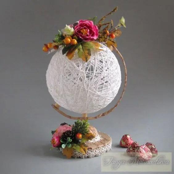 Bellas decoraciones con esferas de hilo dale detalles - Como hacer bolas para decorar ...