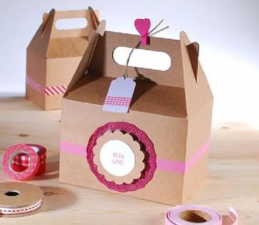 30 adorables cajitas tipo lonchera para dulces dale detalles - Cajas de carton decoradas baratas ...
