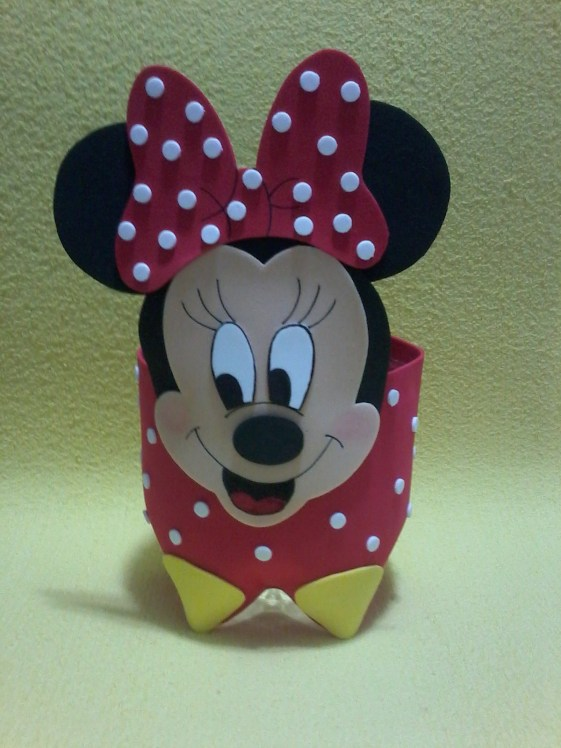 Dulceros De Minnie Y Mickey Mouse Reutilizando Botellas De