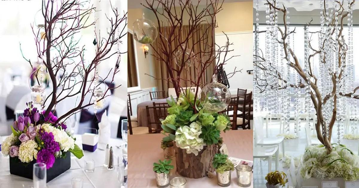 Hermosos centros de mesa con ramas secas dale detalles - Decoracion con ramas de arboles ...