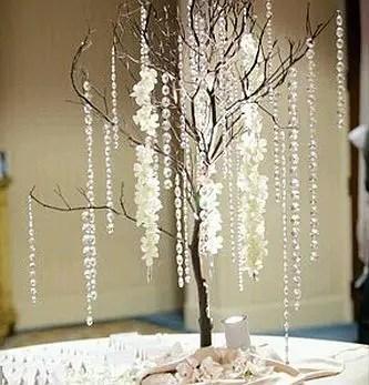 Hermosos centros de mesa con ramas secas dale detalles - Cristales de colores para mesas ...