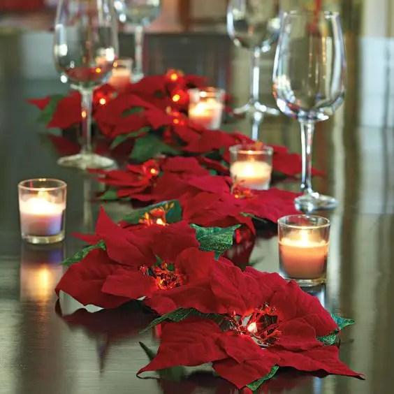 Espectaculares Centros De Mesa Con Flor De Nochebuena O
