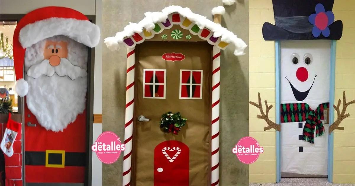Ideas para decorar puertas escolares en Navidad , Dale Detalles