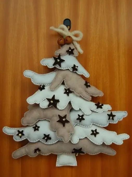 Lindos adornos de navidad con fieltro incluyen moldes for Adornos con plantas de nochebuena