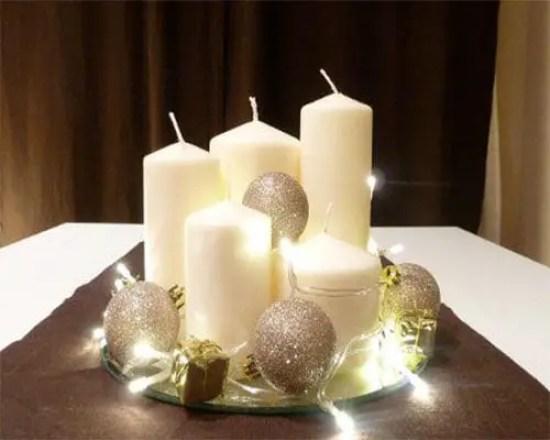Centros de mesa navide os en color blanco y plata dale detalles - Centros navidenos originales ...