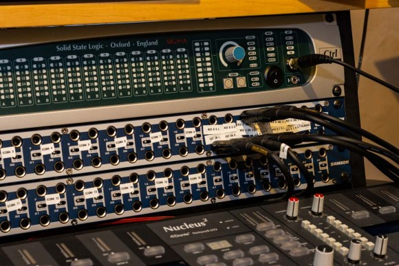 Solid State Logic Sigma and patch bay
