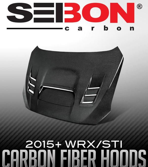 SEIBON CARBON CW-STYLE HOOD: 2015+ SUBARU WRX/STI