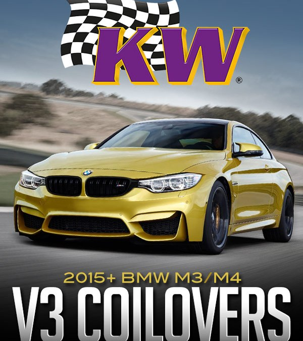 KW SUSPENSIONS V3 COILOVERS: 2015+ BMW M3/M4 F80/F82