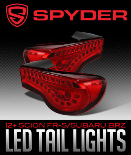 SPYDER AUTO LED TAIL LIGHTS: 2012+ SCION FR-S/SUBARU BRZ
