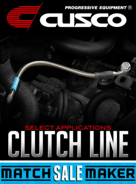 CUSCO BRAIDED STAINLESS MESH CLUTCH LINE: SELECT APPLICATIONS