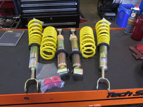 Audi S4 is in for ST Coilovers and a Complete Front Suspension Upgrade kit
