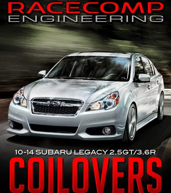 RACECOMP ENGINEERING TARMAC ZERO COILOVERS: 2010-2014 SUBARU LEGACY 2.5GT & 3.6R