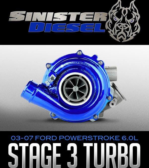 SINISTER DIESEL STAGE 3 POWERMAX TURBO: 2003-2007 FORD POWERSTROKE 6.0L at Dales Motorsport