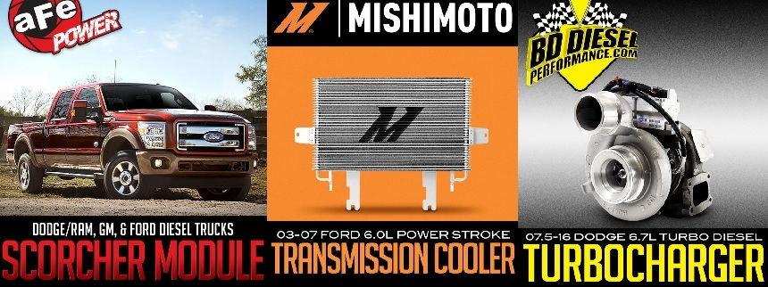 AFE, Mishimoto and BD Performance available at Dales Motorsport