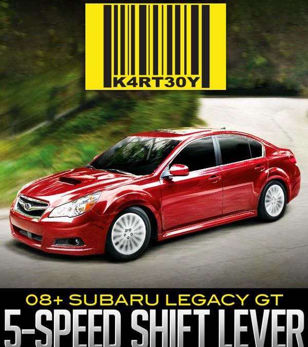 KARTBOY 5-SPEED SHIFT LEVER: 2008+ SUBARU LEGACY GT