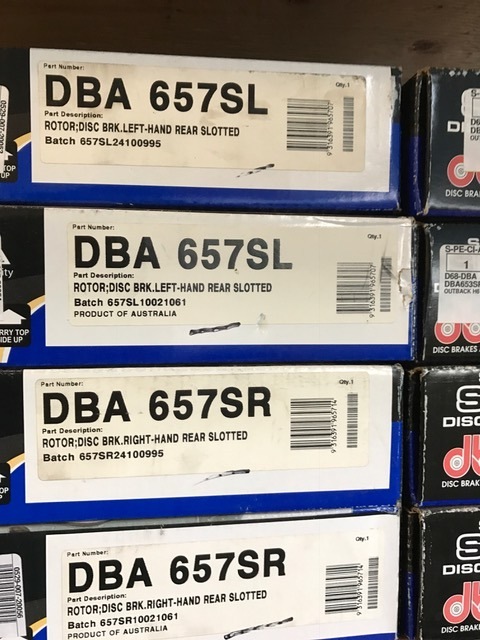 Assorted dba slotted rotors for Subaru- NEED THEM GONE!