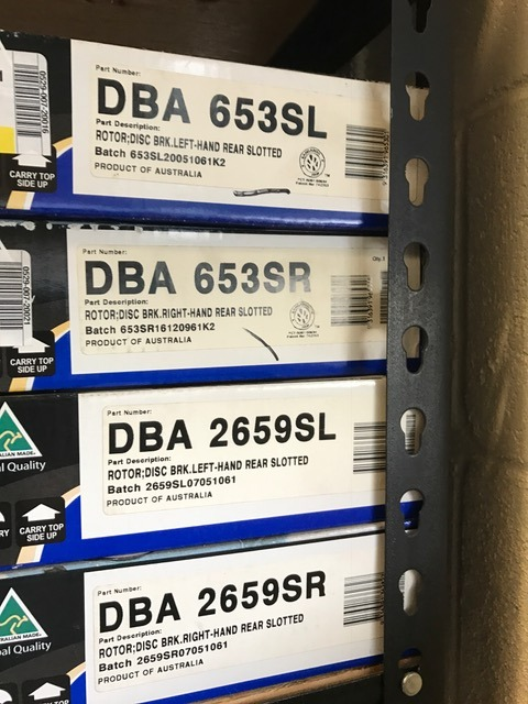 """In stock"" Dba rotors for sale, limited part # available"
