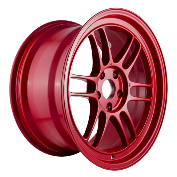 Exclusive run of Competition Red color Enkei Racing RPF1 wheels