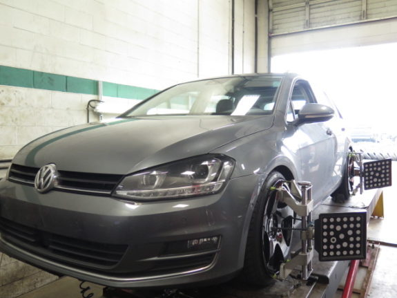 2016 VW Golf Sportwagon in for H&R Lowering coils and new Rims/Tires