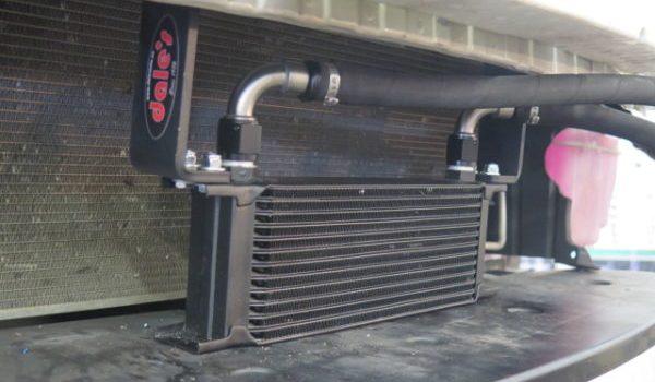 Subaru BRZ in for a PERRIN Oil Cooler