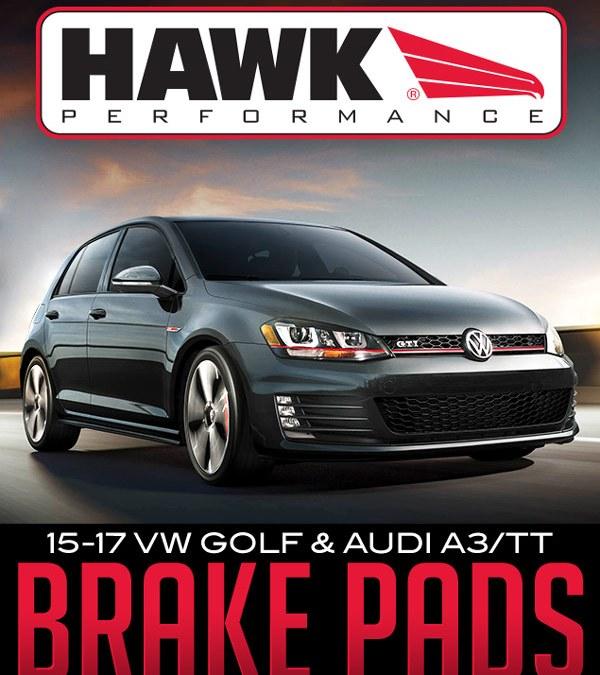HAWK PERFORMANCE BRAKE PADS: 2015-2017 VW GOLF + AUDI A3/TT
