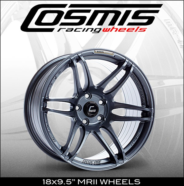 "COSMIS RACING 18X9.5"" MRII WHEELS"