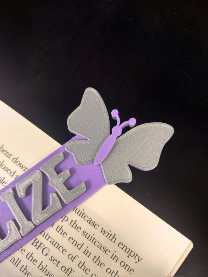 Butterfly themed bookmark