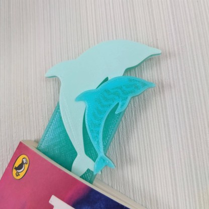 Dolphin bookmark - Pastel Green and Crystal green